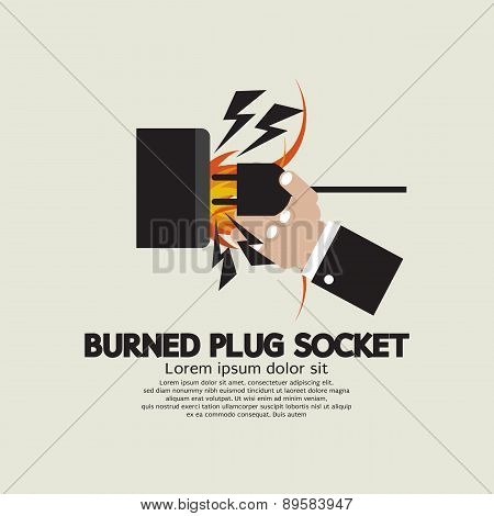 Burned Plug Socket In Hand.