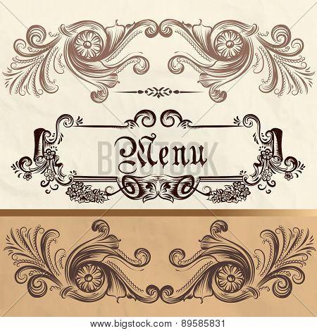 Antique Menu Design On A Paper