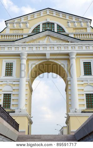 Moscow gate, restored for the anniversary of Irkutsk