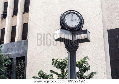 Old clock in Sao Paulo Downtown, Brazil