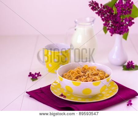 Breakfast Including Muesli And Milk