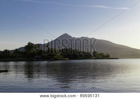 View Of Volcano Mombacho From Isletas De Granada, Nicaragua