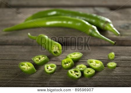 Chopped Fresh Green Chilli Pepper