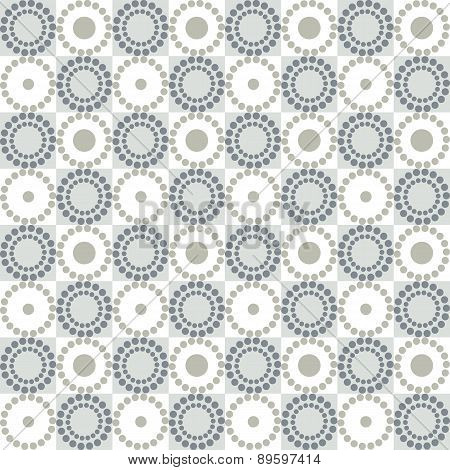 Seamless graphic pattern with circles and squares. Vector background.