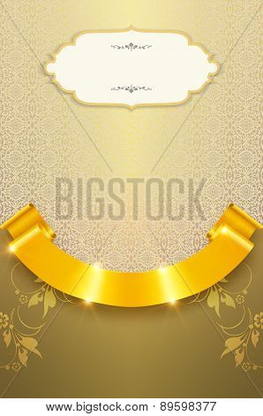 Decorative Gold Background.