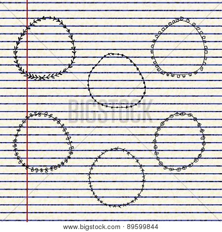 Illustration Of Dividers On A Sheet Of Lined Paper