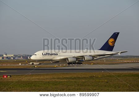 Frankfurt Airport - Airbus A380-800 Of Lufthansa