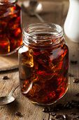 stock photo of brew  - Homemade Cold Brew Coffee to Drink for Breakfast - JPG