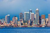 image of washington skyline  - Downtown Seattle Skyline - JPG