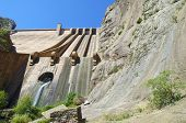 image of hydroelectric  - Hydroelectric dam with blue sky in Spain - JPG