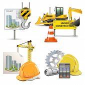 stock photo of bulldozer  - Design and Construction Concept - JPG