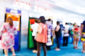 picture of automatic teller machine  - Abstract Blurry people with automatic teller machine or ATM in shopping centre - JPG