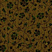 pic of brocade  - seamless floral damask brocade pattern background vector - JPG
