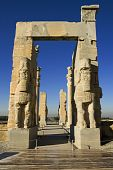 stock photo of xerxes  - Persepolis view on entrance gate to historical complex - JPG
