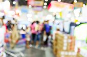 pic of department store  - Abstract blurred people shopping in department store - JPG