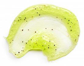 stock photo of scrubs  - Green body scrub isolated on white background - JPG