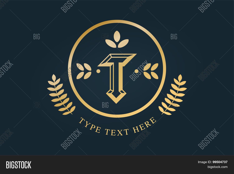 Royal vintage premium logo badge. Letter T logo. Royal hotel ...