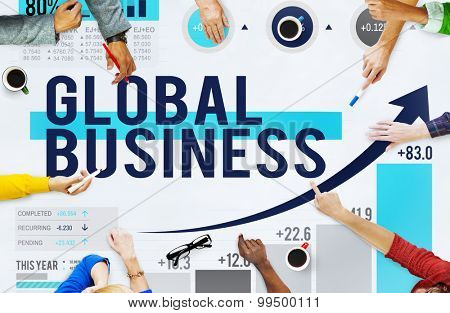 Global Business International Networking Cooperation Concept