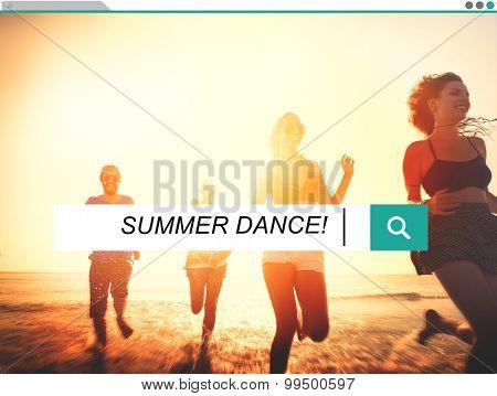Summer Dance Summer Dance Leisure Happiness Concept