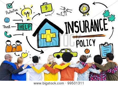 Diversity Casual People Insurance Policy Teamwork Support Concept