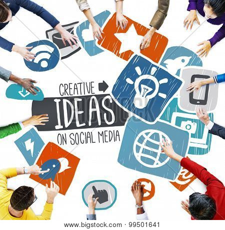 Ideas Creative Social Media Social Networking Vision Concept