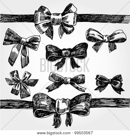 Bows Hand Drawn