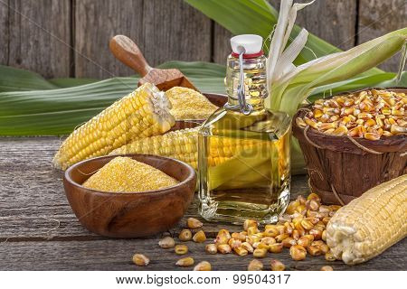 corn with grits polenta and corn oil