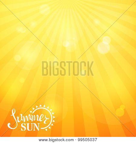 Bright Square Sunny Background.