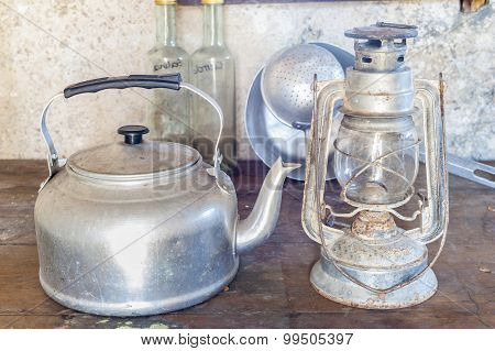 Old Objects Of A Rural Kitchen