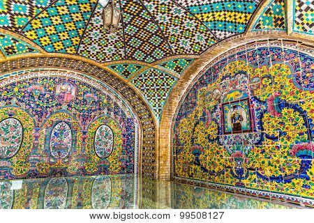 Golestan Palace building of Karim Khan of Zand walls