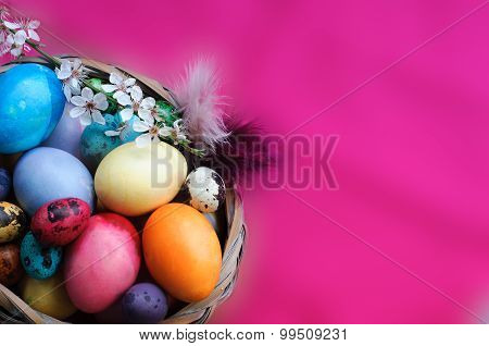 Vibrant Colors Easter Background