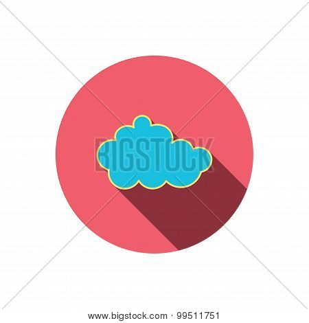 Cloud icon. Overcast weather sign.
