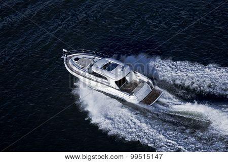 Elegant Speed Boat Sailing In The Sea