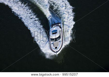 Yacht Making A Turn