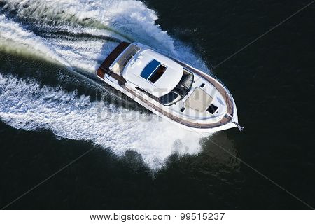 Beautiful Boat Seen From Above