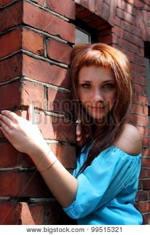 Woman With Wall