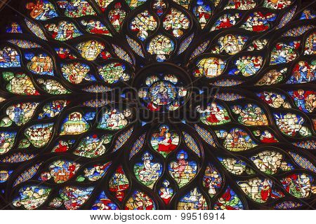 Jesus Christ Rose Window Stained Glass Sainte Chapelle Paris France
