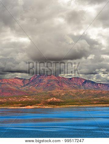 Storm Approaching Roosevelt Lake Arizona