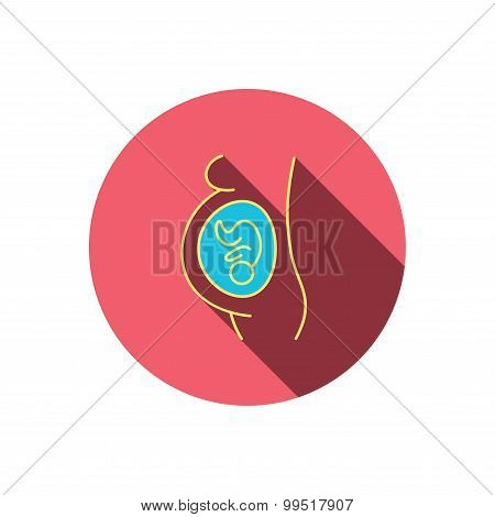 Pregnancy icon. Medical genecology sign.