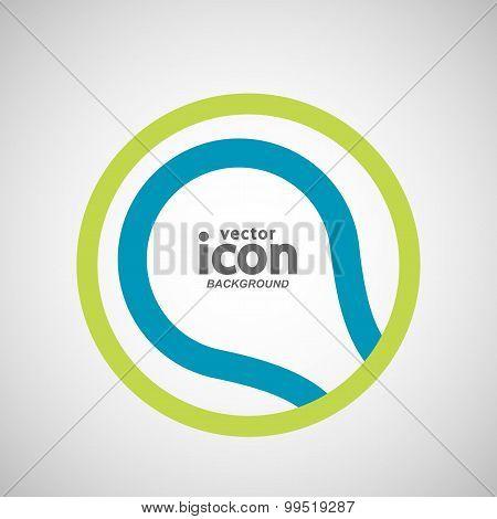 Vector abstract circle icon. Molecule color design