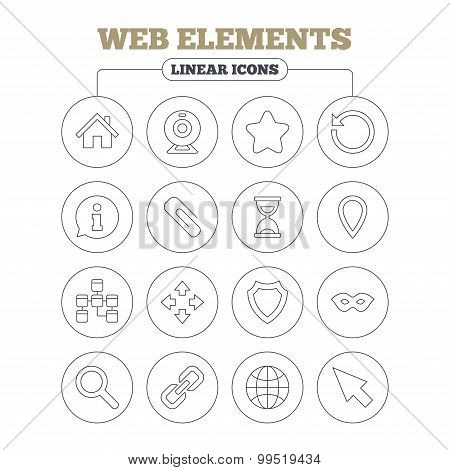 Web elements icons. Video and speech bubble.