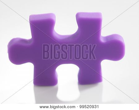 close up on a piece of jigsaw puzzle