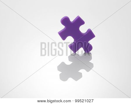 single piece of the jigsaw puzzle
