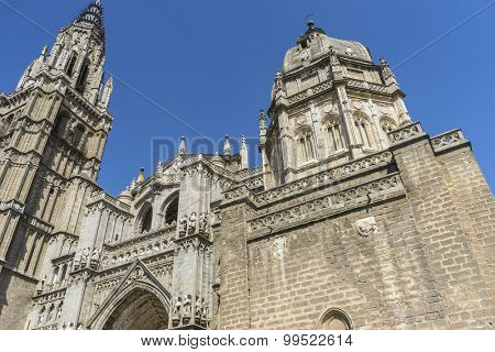 Town, amazing and beautiful cathedral in Toledo, Spain