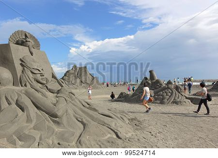 Sand Sculptures On Chijin Island