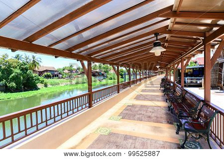 Benches And Walkway For Relaxation at Riverside.