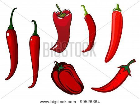 Red hot chilli, cayenne and bell peppers