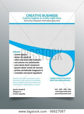 Corporate business flyer template - modern minimal design