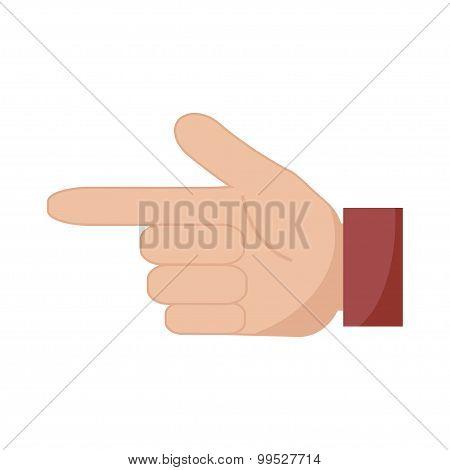 Hand Pointer Icon. Forefinger Icon.