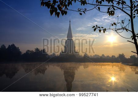 Sunrise Big Pagoda Golden